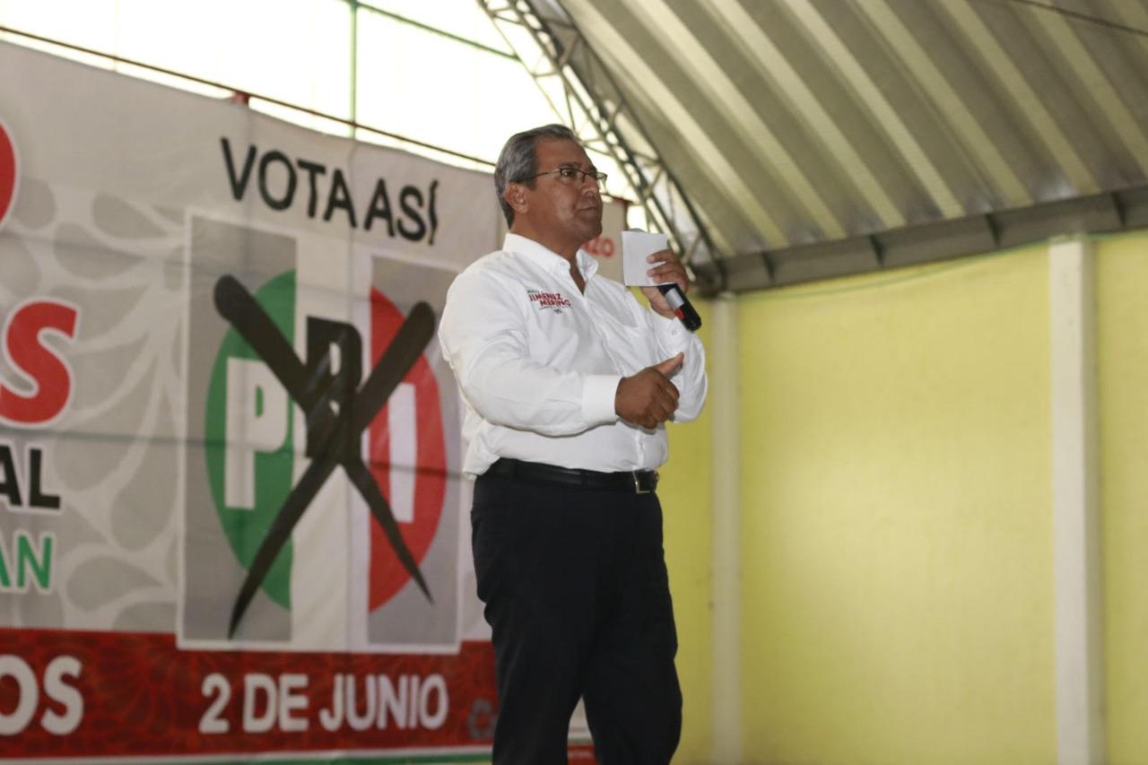 GANAREMOS ESTE DOMINGO PARA BENEFICIO DE LOS POBLANOS: JIMÉNEZ MERINO