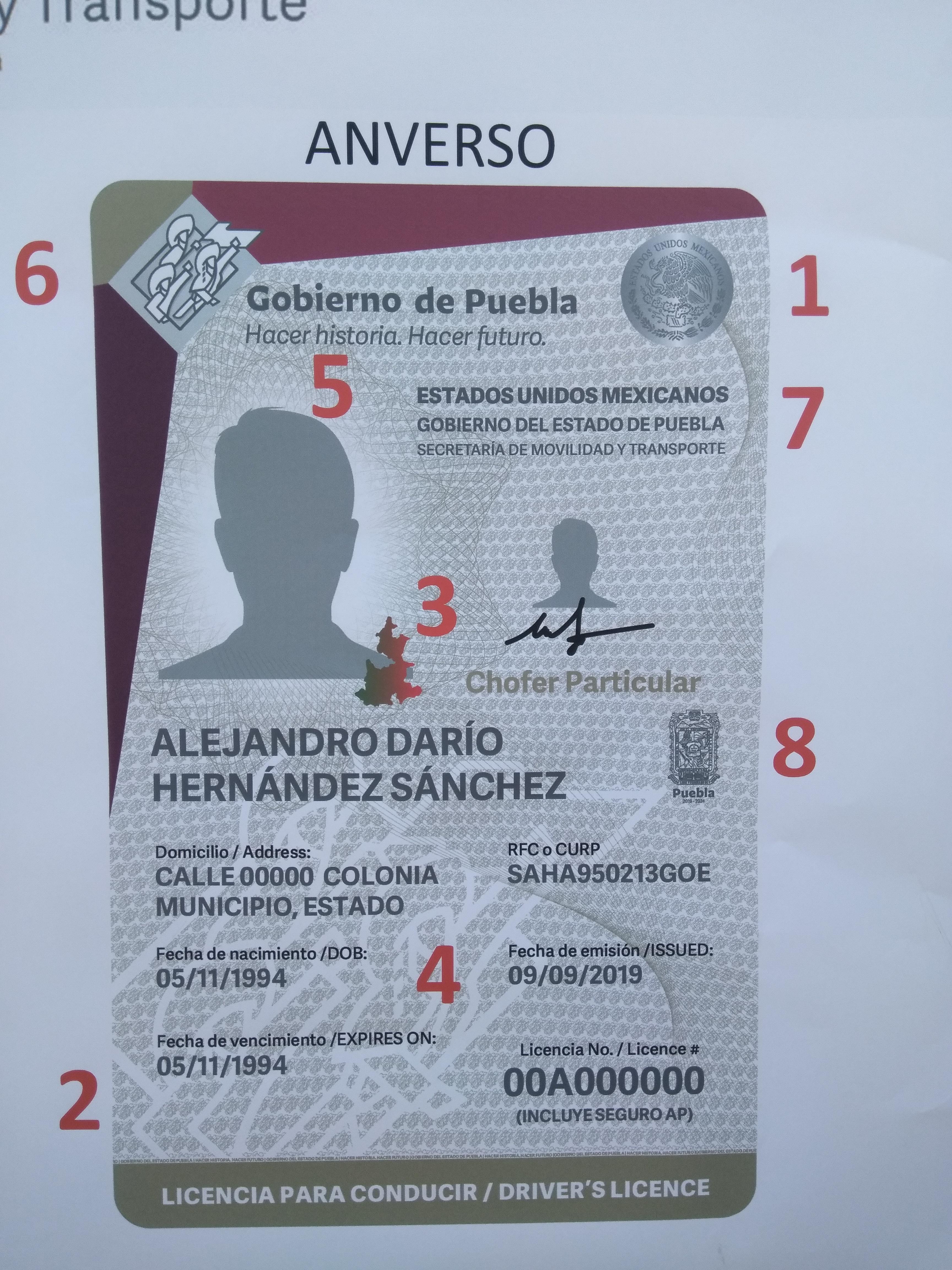 Licencia De Conducir Tiene Nueva Imagen Y Más Medidas De
