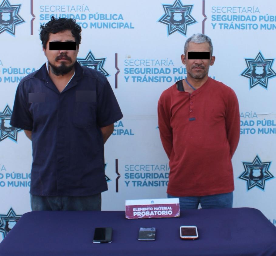 DETUVO POLICÍA MUNICIPAL DE PUEBLA A DOS PROBABLES ASALTANTES DEL TRANSPORTE PÚBLICO