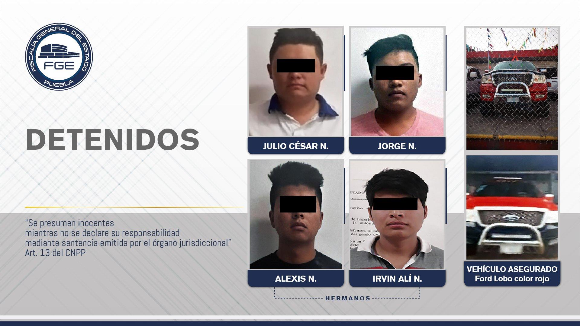 FISCALÍA DETUVO A CUATRO HOMBRES EN SEGUIMIENTO A INVESTIGACIÓN DE BANDA DESARTICULADA