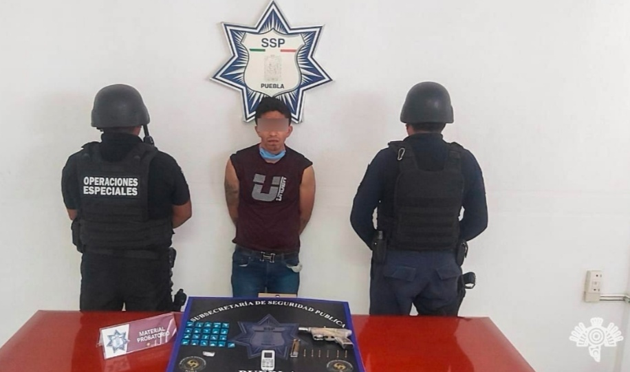 DETIENE POLICÍA ESTATAL A PRESUNTO NARCOMENUDISTA Y ASALTANTE