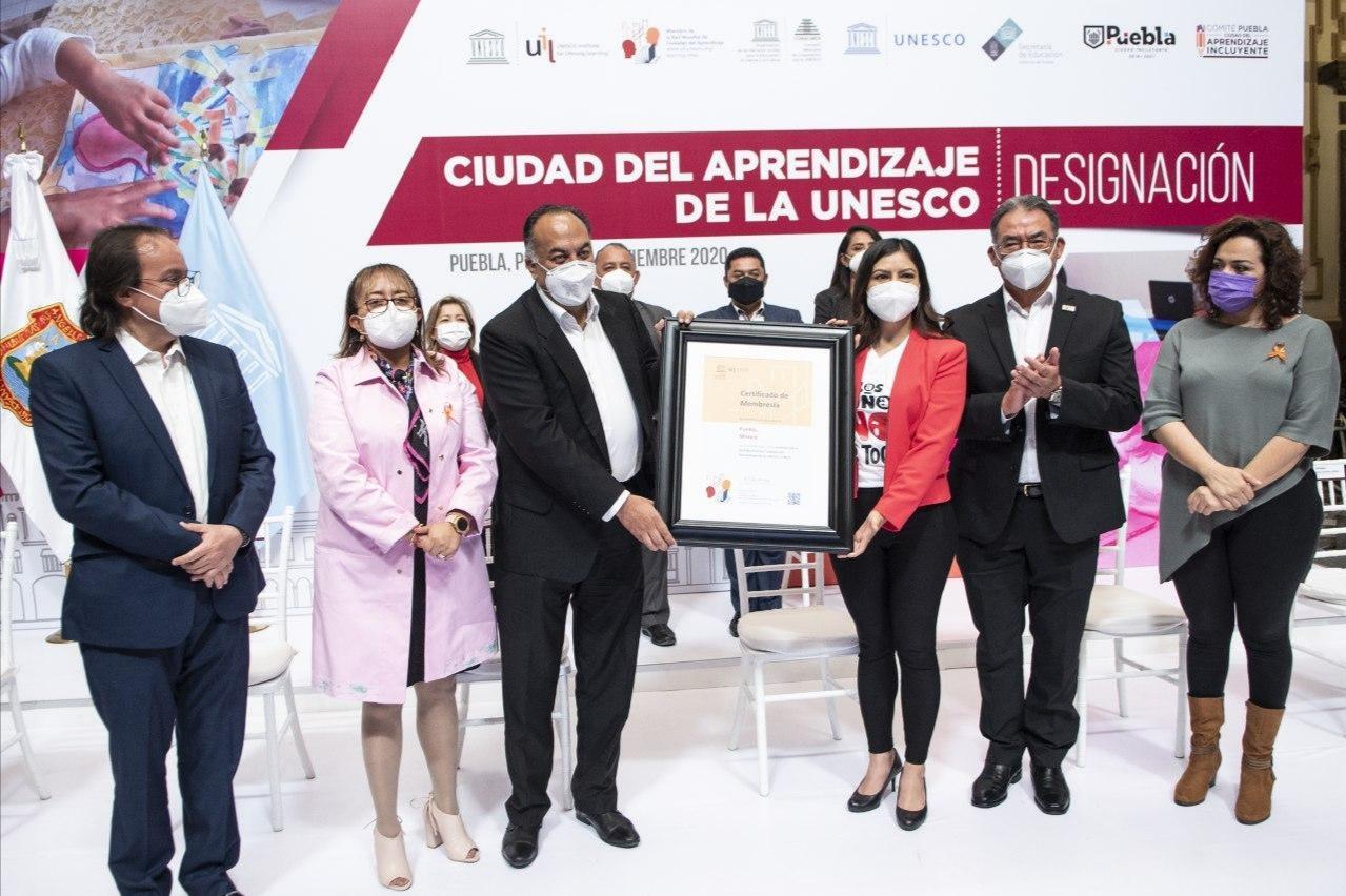 AYUNTAMIENTO DE PUEBLA , OFICIALIZA INGRESO A LA RED DE CIUDADES DEL APRENDIZAJE